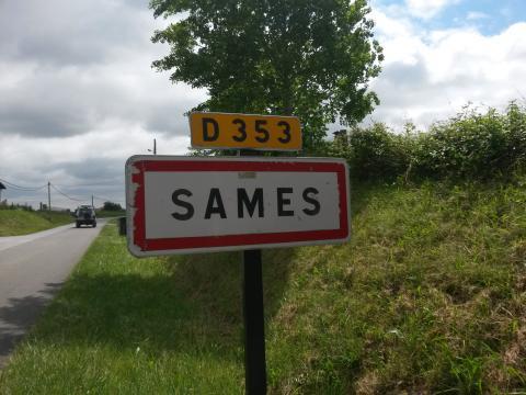 Panneau d'entrée de Sames